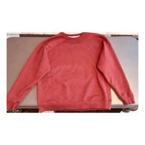 Red Champion crew neck sweater